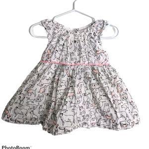 Adorable puppy print summer dress